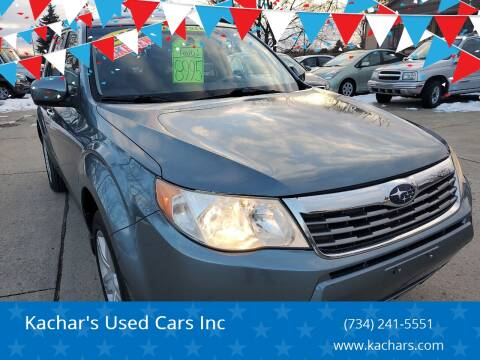 2009 Subaru Forester 2.5 X Limited for sale at Kachar's Used Cars Inc in Monroe MI