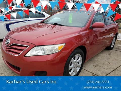 2010 Toyota Camry LE for sale at Kachar's Used Cars Inc in Monroe MI