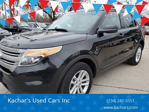 2015 Ford Explorer for sale at Kachar's Used Cars Inc in Monroe MI