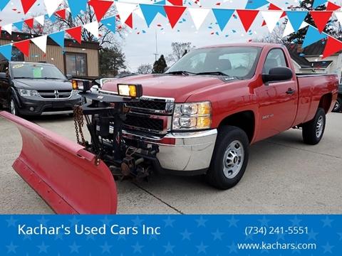 2013 Chevrolet Silverado 2500HD Work Truck for sale at Kachar's Used Cars Inc in Monroe MI
