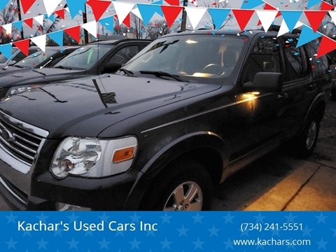 2010 Ford Explorer XLT for sale at Kachar's Used Cars Inc in Monroe MI
