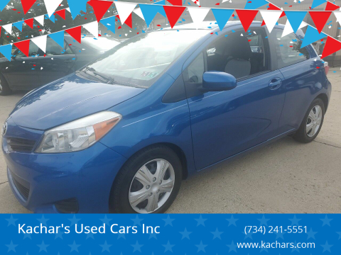 2012 Toyota Yaris for sale at Kachar's Used Cars Inc in Monroe MI