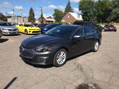 2016 Chevrolet Malibu for sale at Ryan Auto Sales in Warren MI