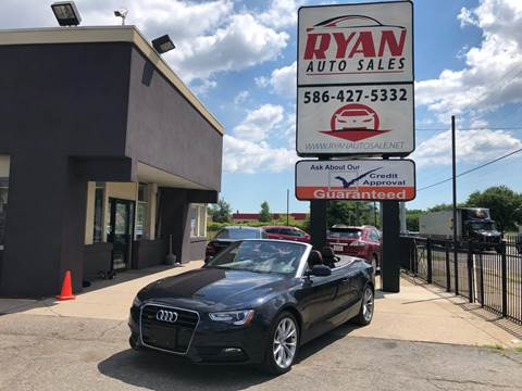 2013 Audi A5 for sale at Ryan Auto Sales in Warren MI