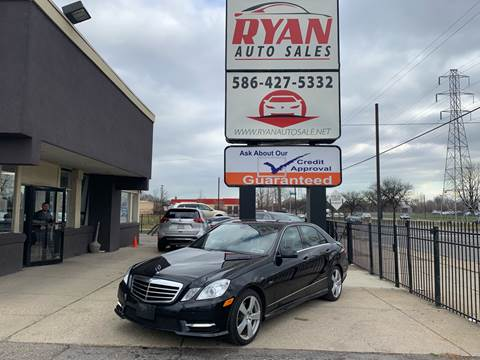 2012 Mercedes-Benz E-Class for sale at Ryan Auto Sales in Warren MI