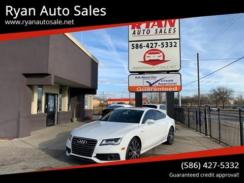 2012 Audi A7 for sale at Ryan Auto Sales in Warren MI