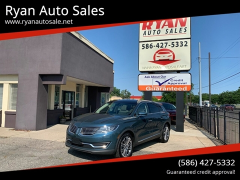 2016 Lincoln MKX for sale at Ryan Auto Sales in Warren MI