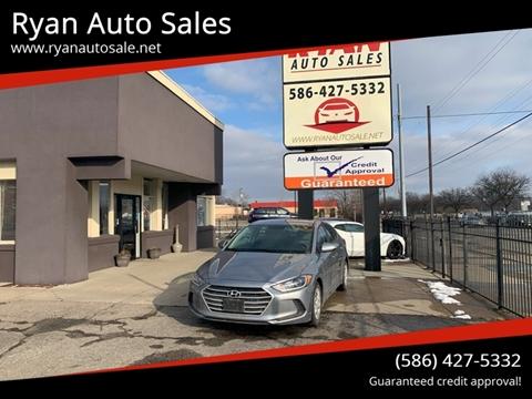 2017 Hyundai Elantra for sale at Ryan Auto Sales in Warren MI
