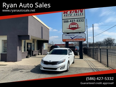 2015 Kia Optima for sale at Ryan Auto Sales in Warren MI