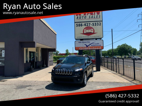 2016 Jeep Cherokee for sale at Ryan Auto Sales in Warren MI
