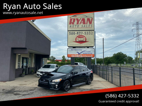 2017 Subaru WRX for sale at Ryan Auto Sales in Warren MI