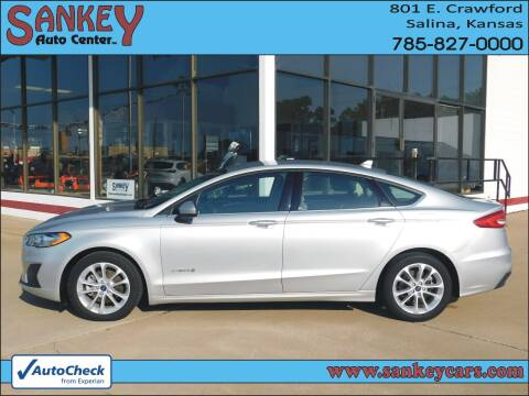 2019 Ford Fusion Hybrid for sale at Sankey Auto Center, Inc in Salina KS
