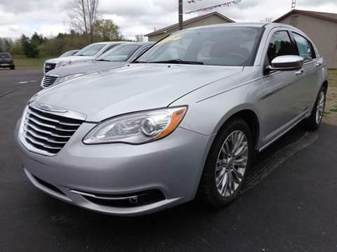 2012 Chrysler 200 for sale at VanderHaag Car Sales LLC in Scottville MI