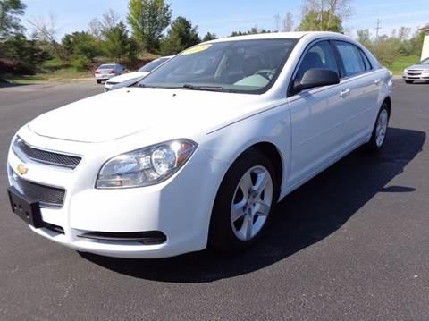 2012 Chevrolet Malibu for sale at VanderHaag Car Sales LLC in Scottville MI