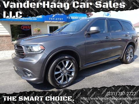 2015 Dodge Durango for sale at VanderHaag Car Sales LLC in Scottville MI