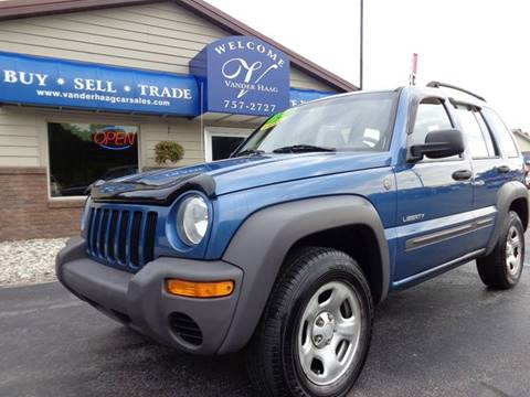 2004 Jeep Liberty for sale at VanderHaag Car Sales LLC in Scottville MI