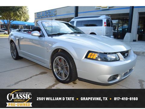 2003 Ford Mustang SVT Cobra for sale in Grapevine, TX