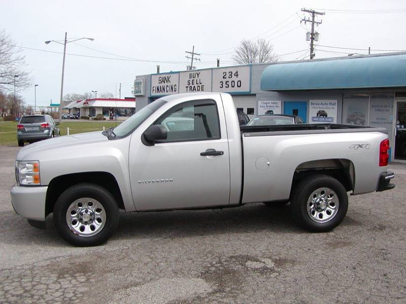 2010 Chevrolet Silverado 1500 Work Truck 4x4 2dr Regular Cab 6.5 ft. SB for sale at Berea Auto Mall
