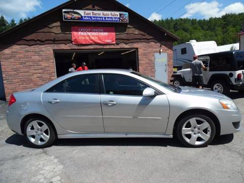 2010 Pontiac G6 for sale in East Barre, VT
