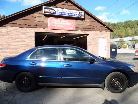 2004 Honda Accord for sale in East Barre, VT