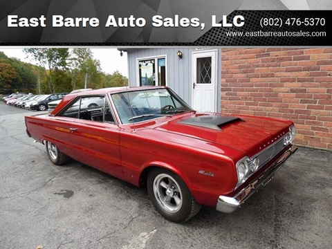 1966 Plymouth Satellite for sale at East Barre Auto Sales, LLC in East Barre VT