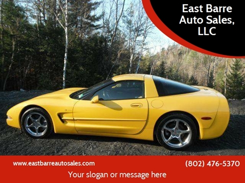 2001 Chevrolet Corvette for sale at East Barre Auto Sales, LLC in East Barre VT