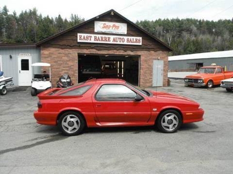 1993 Dodge Daytona for sale at East Barre Auto Sales, LLC in East Barre VT