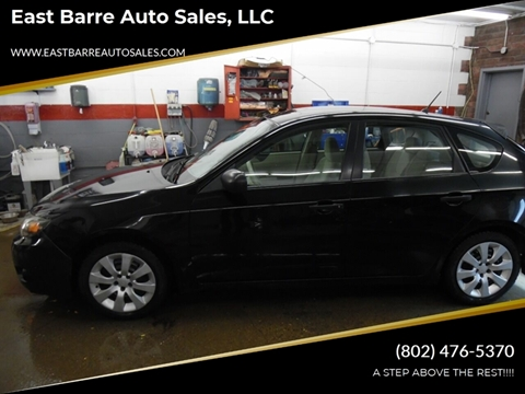 2008 Subaru Impreza for sale at East Barre Auto Sales, LLC in East Barre VT