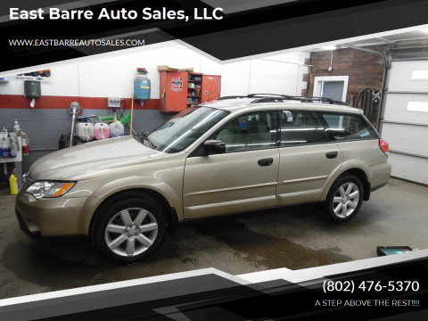 2008 Subaru Outback for sale at East Barre Auto Sales, LLC in East Barre VT