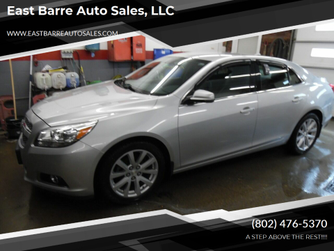 2013 Chevrolet Malibu for sale at East Barre Auto Sales, LLC in East Barre VT