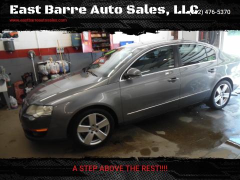2007 Volkswagen Passat for sale at East Barre Auto Sales, LLC in East Barre VT