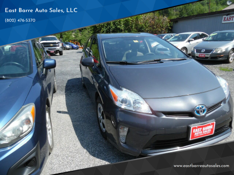 2012 Toyota Prius for sale at East Barre Auto Sales, LLC in East Barre VT