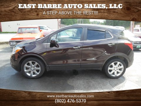 2013 Buick Encore for sale at East Barre Auto Sales, LLC in East Barre VT