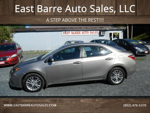 2014 Toyota Corolla for sale at East Barre Auto Sales, LLC in East Barre VT