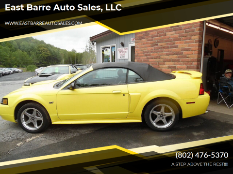 2003 Ford Mustang for sale at East Barre Auto Sales, LLC in East Barre VT