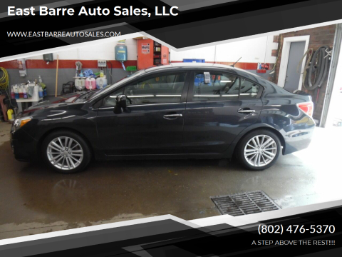 2012 Subaru Impreza for sale at East Barre Auto Sales, LLC in East Barre VT