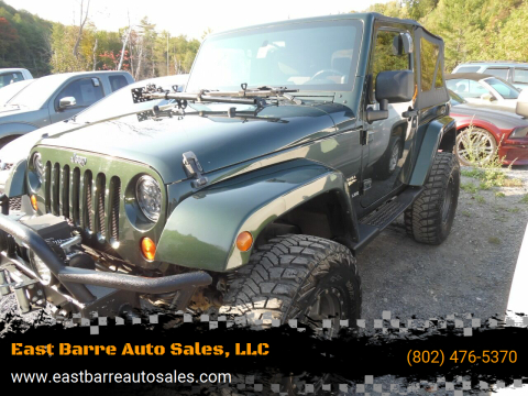 2010 Jeep Wrangler for sale at East Barre Auto Sales, LLC in East Barre VT