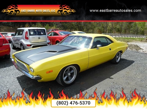 1973 Dodge Challenger for sale at East Barre Auto Sales, LLC in East Barre VT