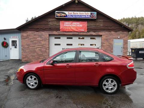 2009 Ford Focus for sale in East Barre, VT
