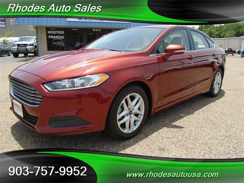 Rhodes Auto Sales >> 2014 Ford Fusion For Sale In Longview Tx