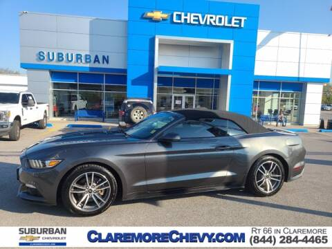 2017 Ford Mustang for sale at Suburban Chevrolet in Claremore OK
