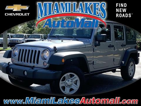 2016 Jeep Wrangler Unlimited for sale in Miami, FL