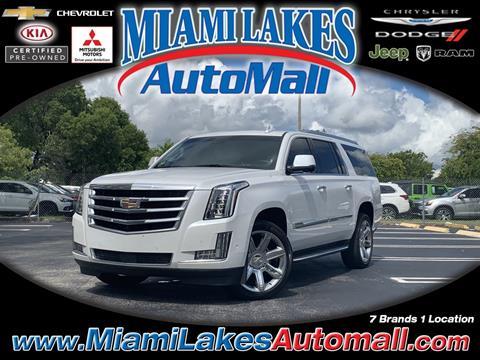 2017 Cadillac Escalade ESV for sale in Miami, FL