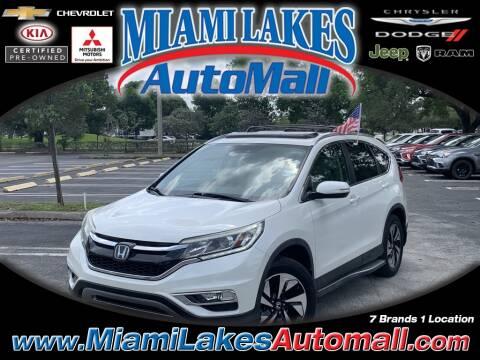 2015 Honda CR-V Touring for sale at Miami Lakes Auto Mall in Miami FL