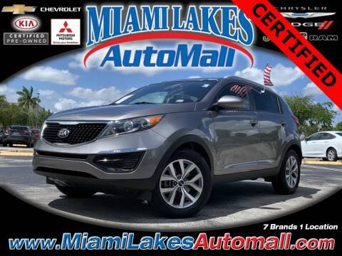 2016 Kia Sportage LX for sale at Miami Lakes Auto Mall in Miami FL