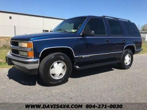 1997 Chevrolet Tahoe for sale at DAVIS AUTO SALES                                     . in Richmond VA