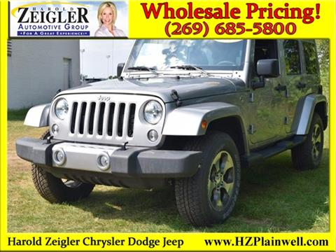 2017 Jeep Wrangler Unlimited for sale in Plainwell, MI