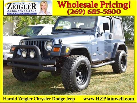 2002 Jeep Wrangler for sale in Plainwell, MI