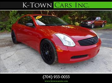 2006 Infiniti G35 for sale at K - Town Cars Inc in Kannapolis NC