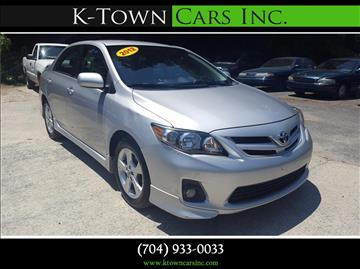 2012 Toyota Corolla for sale at K - Town Cars Inc in Kannapolis NC
